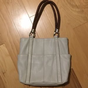 Tignanello leather cream colored purse